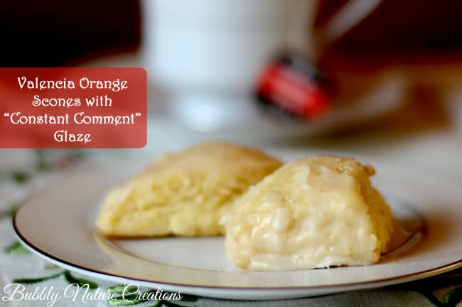 Valencia Orange Scones with Constant Comment Glaze
