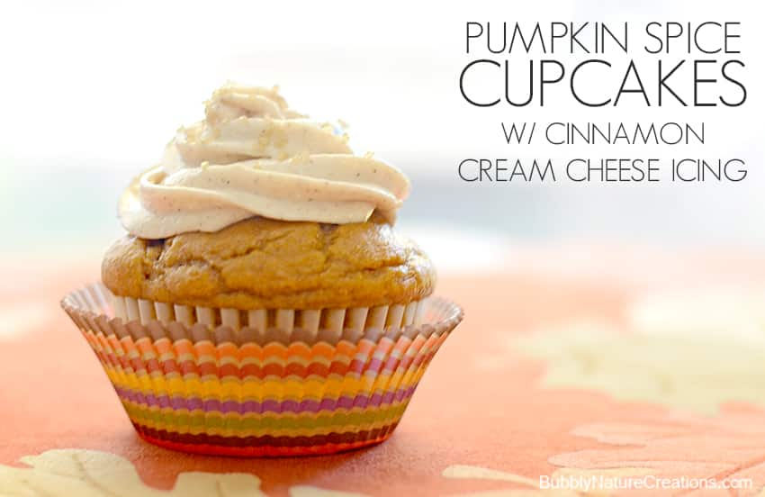 Pumpkin Spice Cupcakes w/ Cinnamon Cream Cheese Icing - Sprinkle Some ...