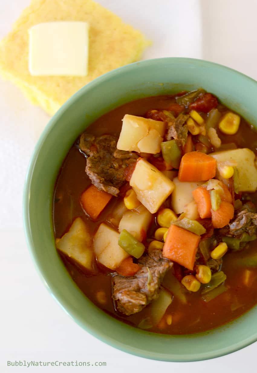 Moms Vegetable Beef Stew (Crockpot) Heirloom RecipesSprinkle