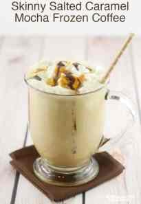 Skinny Salted Caramel Mocha Frozen Coffee - Sprinkle Some Fun