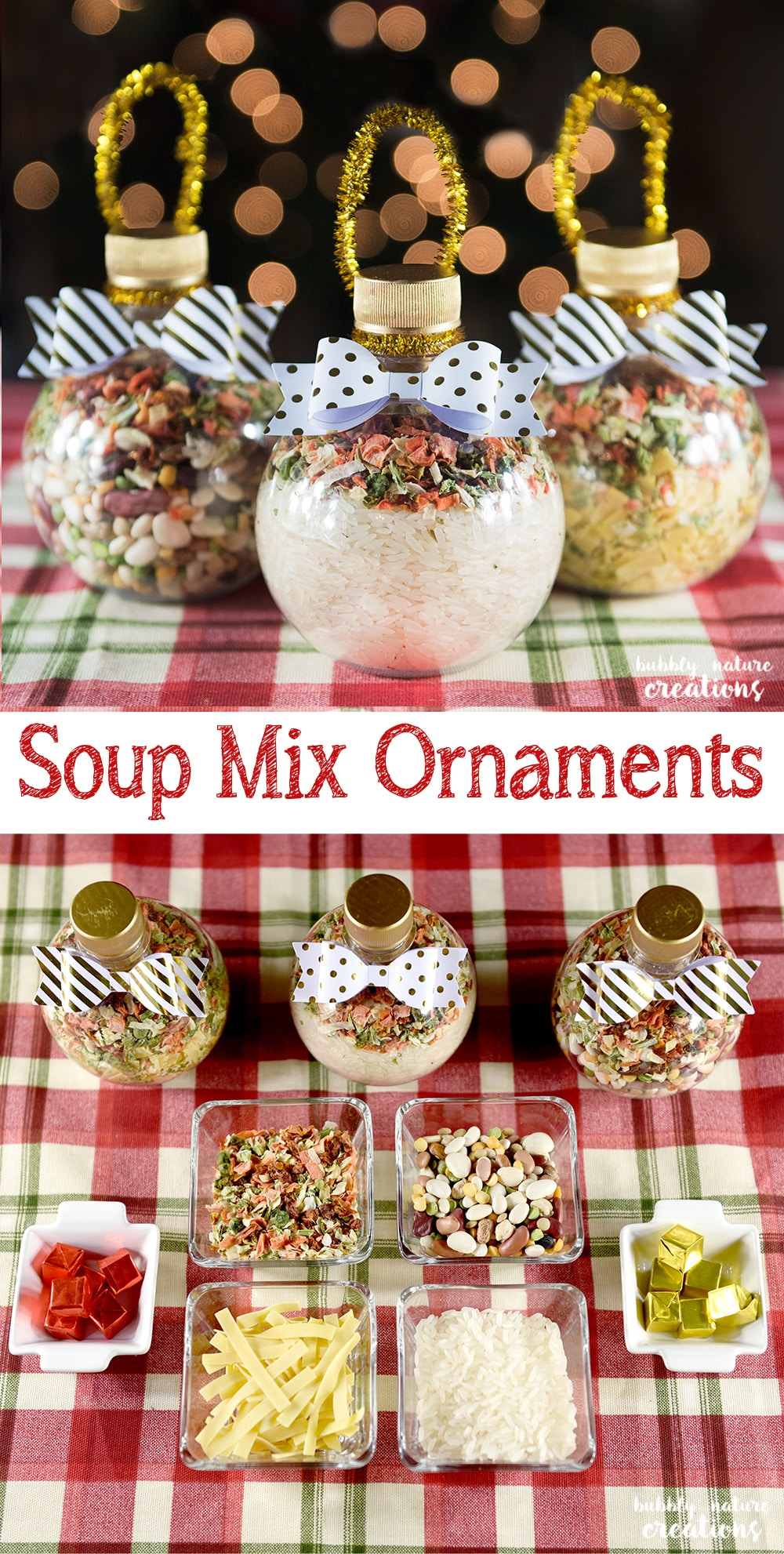 soup mix ornaments