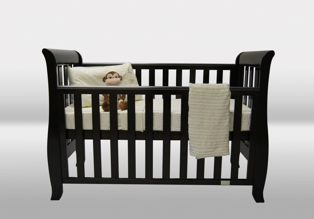 Baby Cots With Drop Sides Babyhood Classic Sleigh Cot 4 In 1 Plus Free 99 95