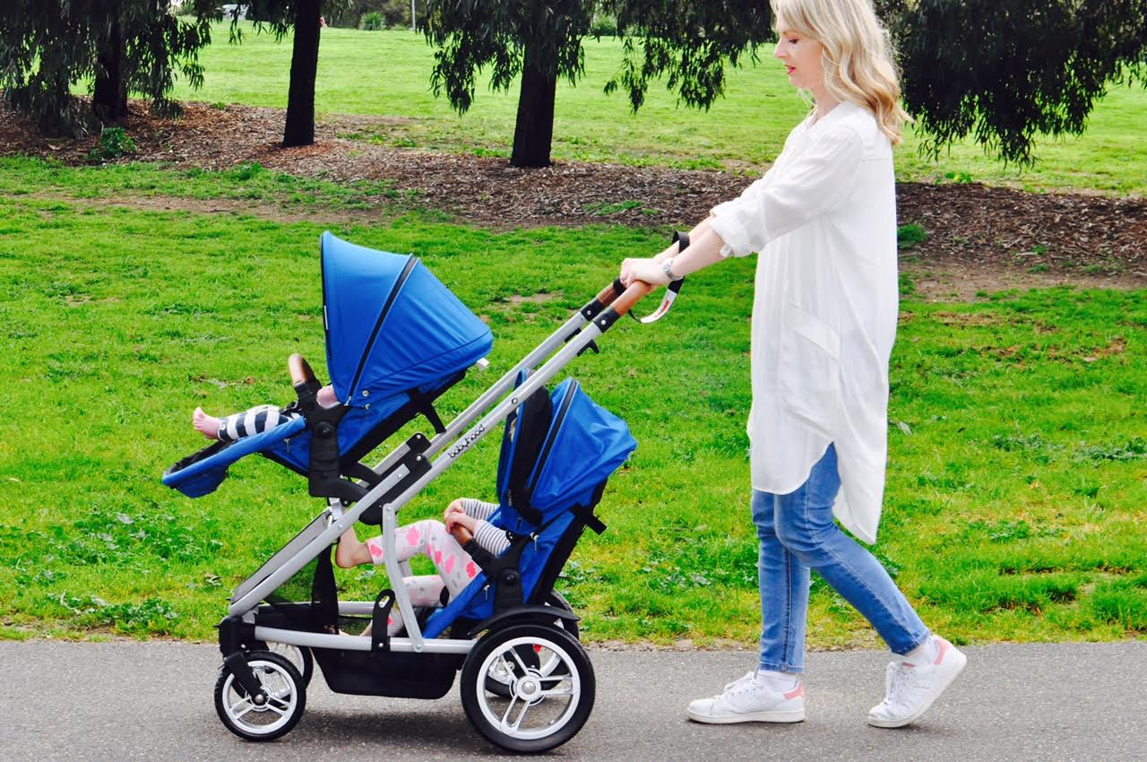 Double Pram Australia Reviews Babyhood Doppio Twin Pram Review Bubs N Grubs