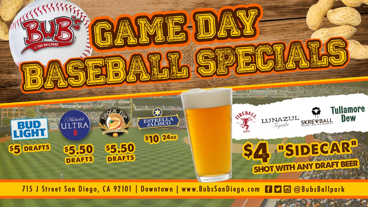 Beer Specials Daily Specials Bub S The Ballpark