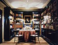The dining room/library combo