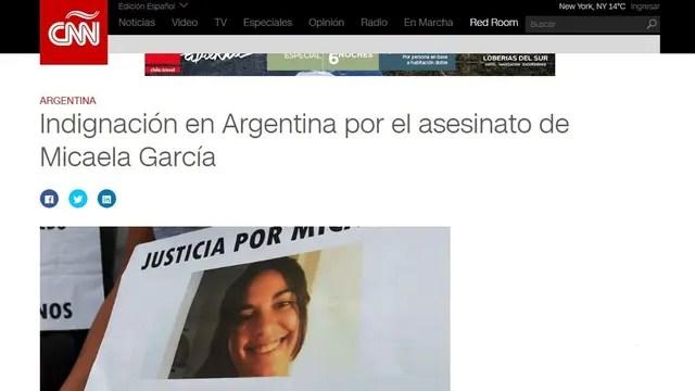 Los medios del mundo se hicieron eco del crimen de Micaela García