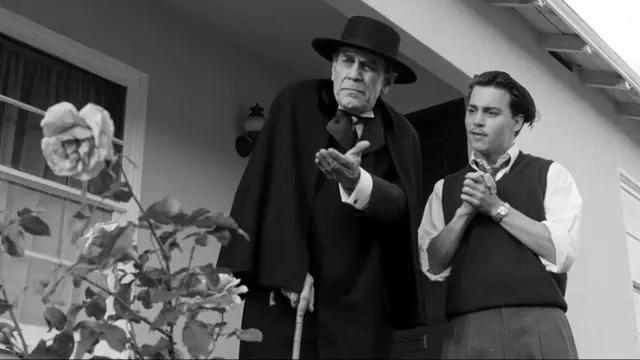Martin Landau junto a Johnny Depp en Ed Wood