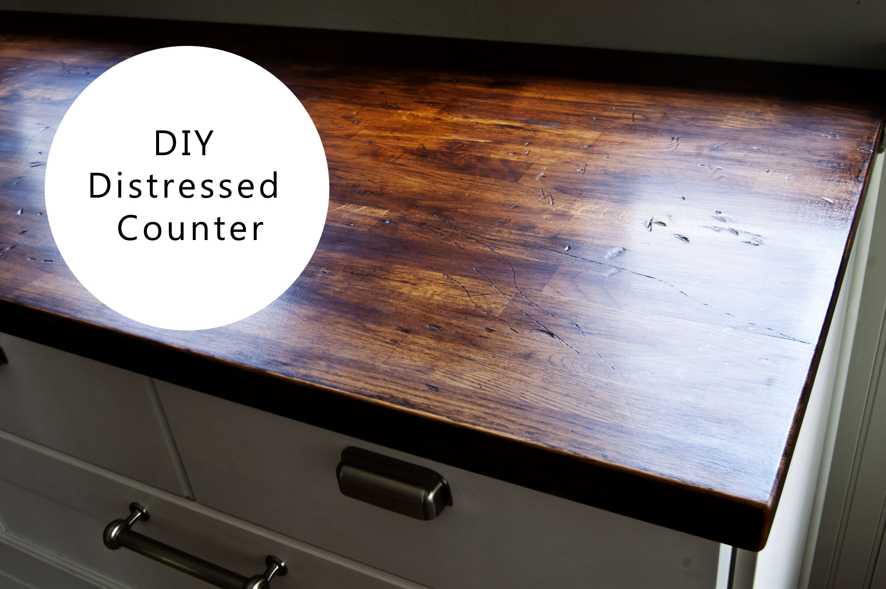 How To Install Ikea Countertops Diy Distressed Wood Counter Buckhouse