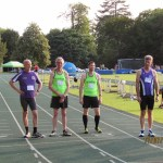 The two Jons playing it cool before the 800m