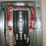 Commercial building electrical panel addition.