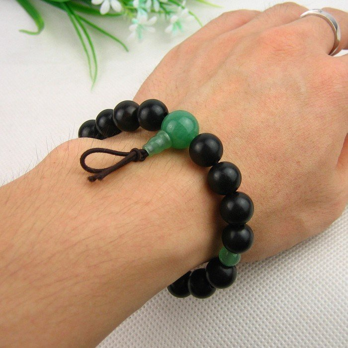 Wholesale Jade Jewelry Japanese Ebony Wrist Mala Sakura Designs
