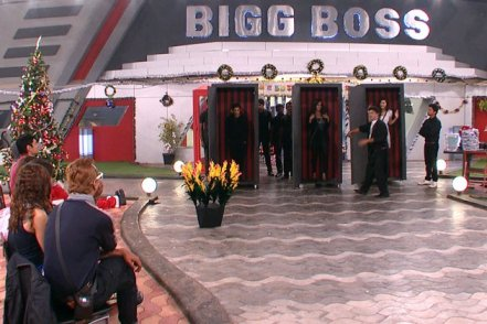 He locks them all in a black box and after some time, Sapna and Sana came out but Karishma doesn't.