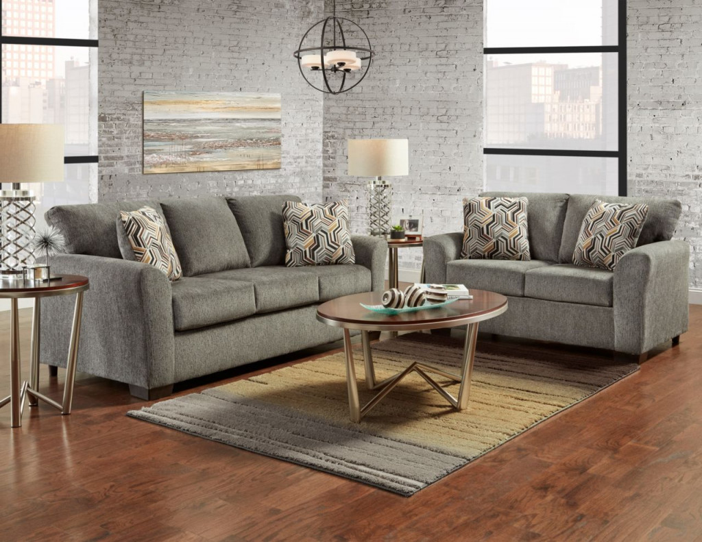 Living Room With Grey Sofa Affordable Allure Grey Sofa And Loveseat 3333 3332 Allure Grey