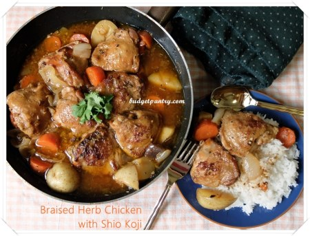 Mar 31- Braised Herb Chicken with Shio Koji
