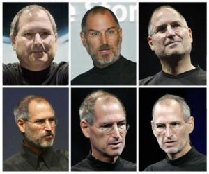 Combination file photos of Apple Inc CEO Steve Jobs