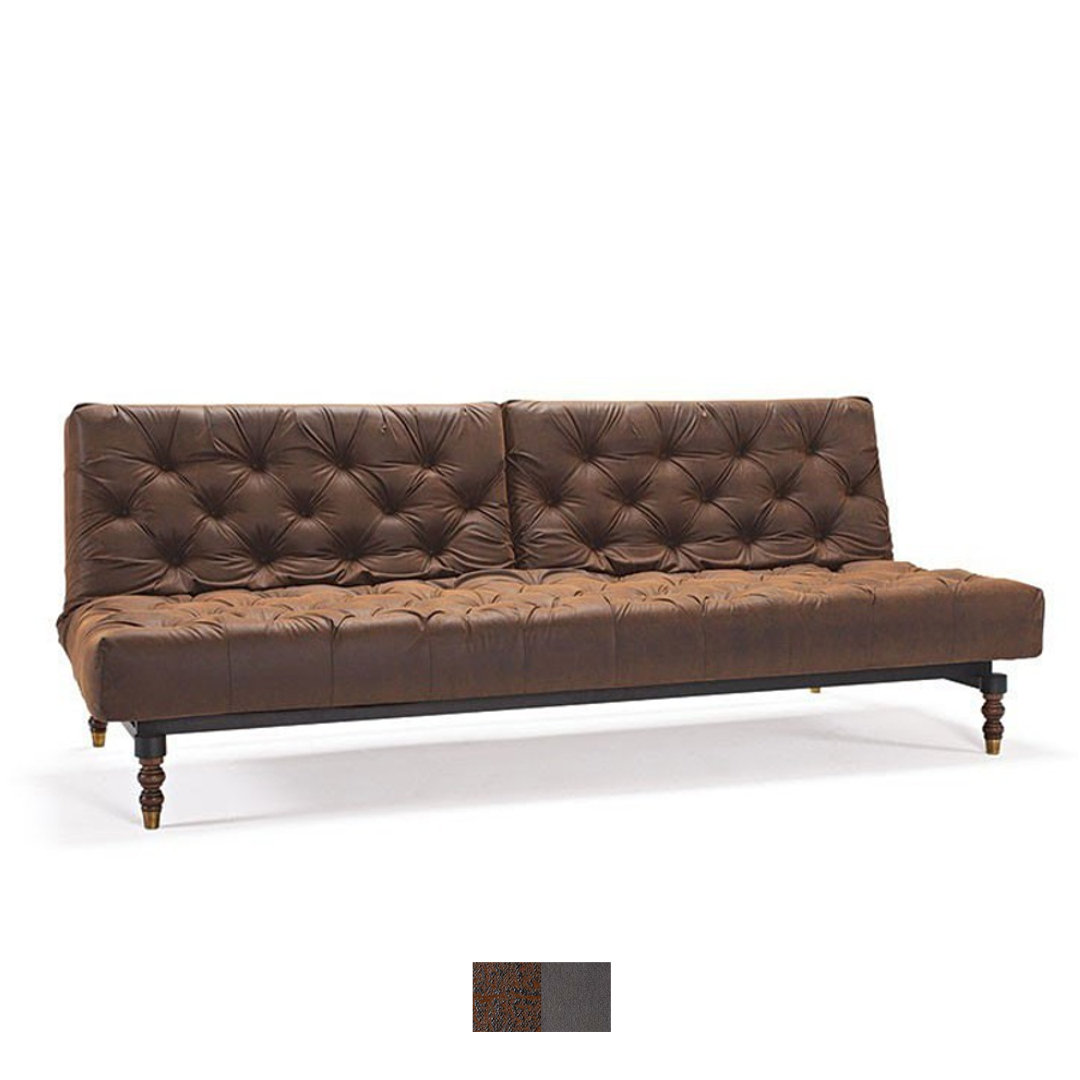 Leder Schlafcouch Innovation Schlafsofa Oldschool