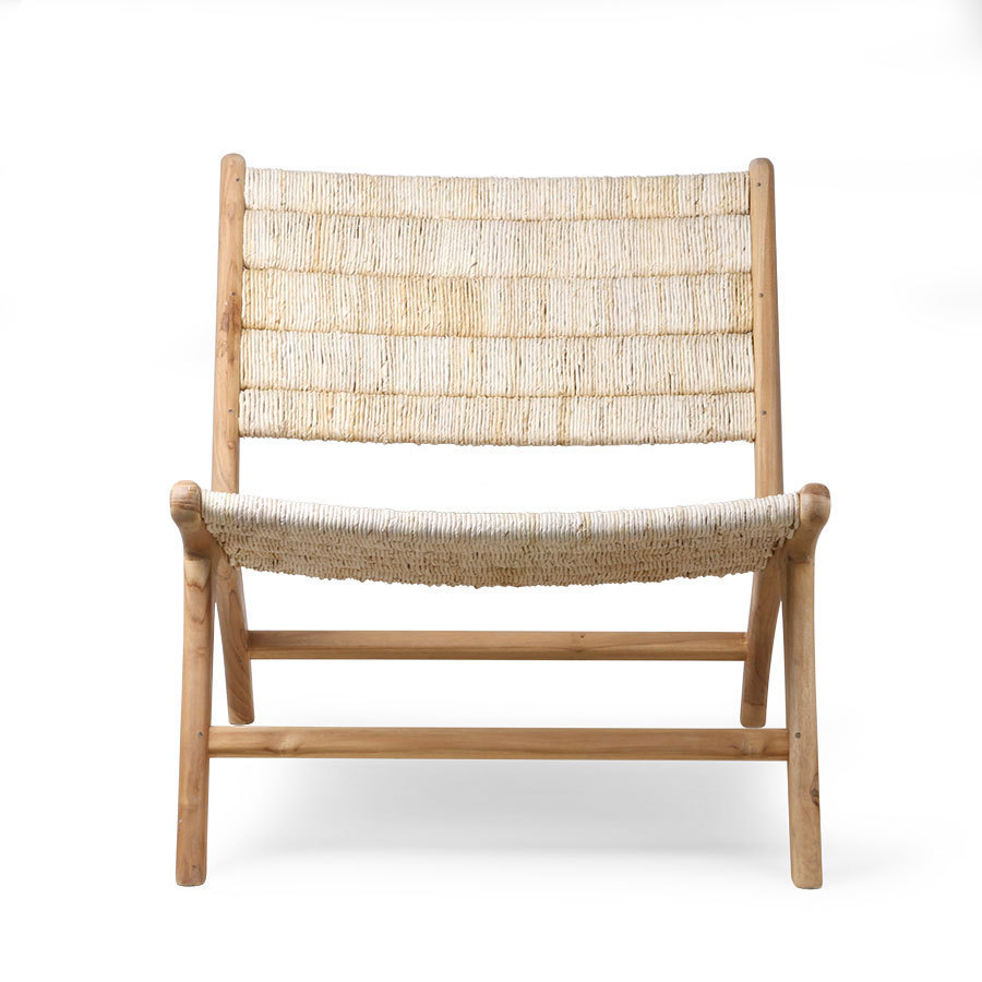 Lounge Sessel Natur Hkliving Abaca Teak Lounge Chair Sessel