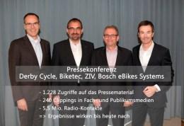 Stiftung Warentest-Pressekonferenz im Auftrag des ZIV, Derby Cycle, Biketec und Bosch eBike-Systems am 18.10.2013 in Berlin