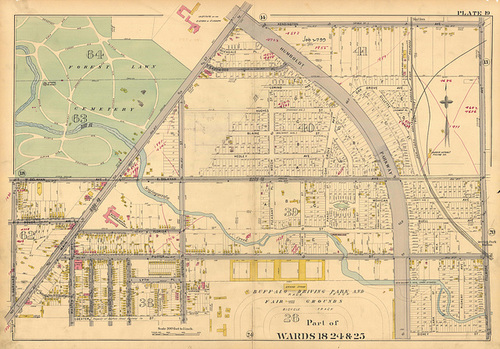 Northern portion of Hamlin Park - 1894 Atlas
