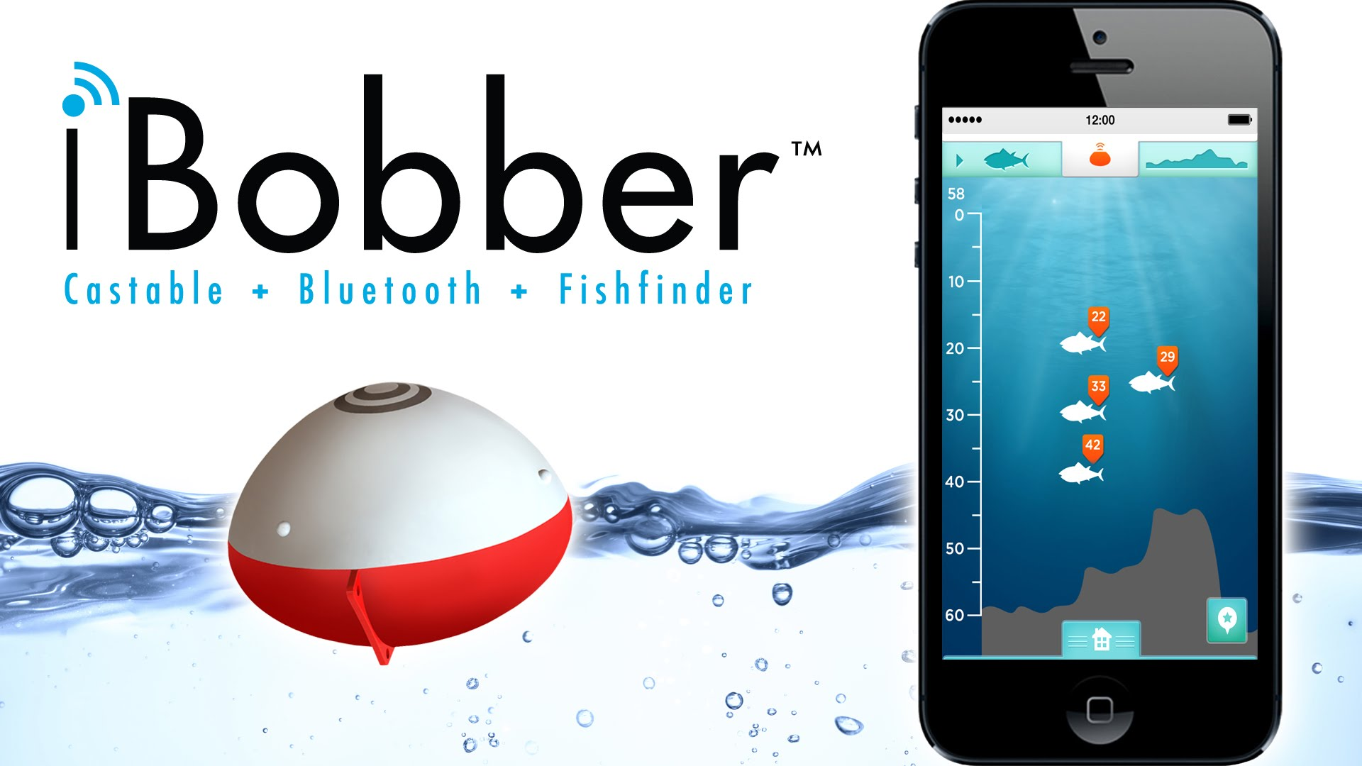 Ibobber fish finder buffercode for Castable fish finder