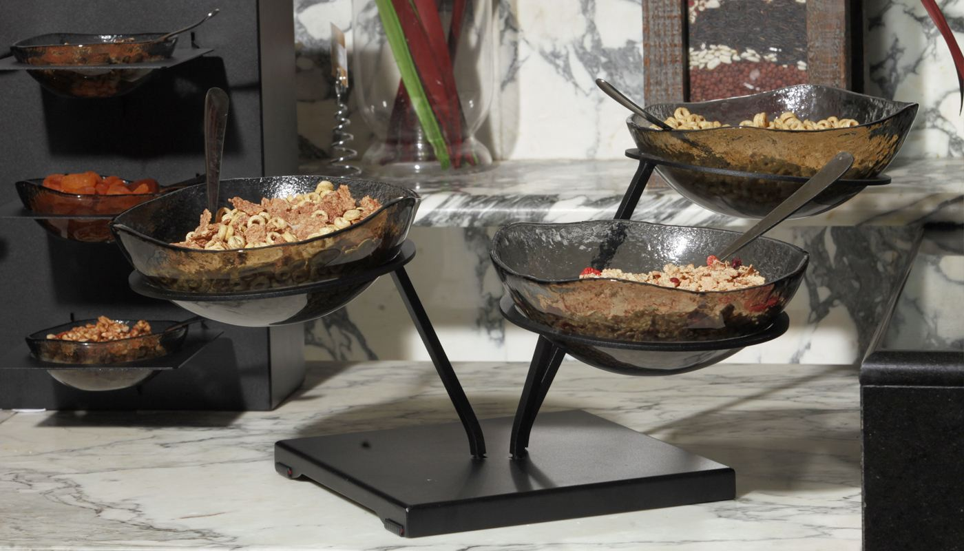 How To Display Bowls Bowl Buffet Display Risers