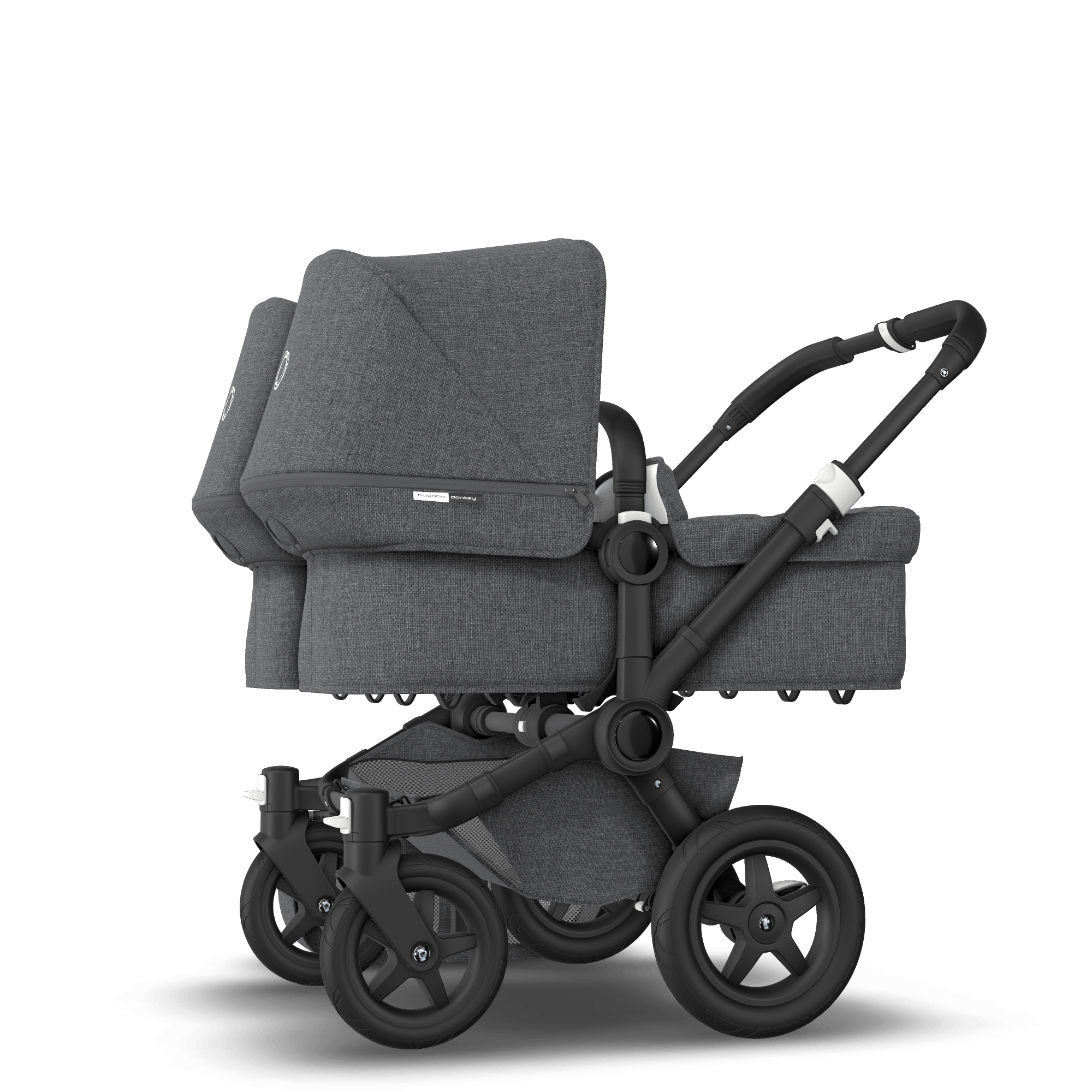 Double Pushchair Bugaboo Bugaboo Donkey 2 Twin Seat And Bassinet Stroller