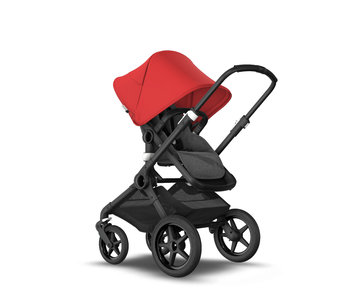 Bugaboo Fox Vs Joolz Day 2 Bugaboo Fox 2 Seat And Bassinet Stroller Red Sun Canopy