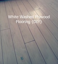 White Washed Plywood Flooring {DIY} | BUGGALUGGS