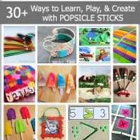 Learning, Playing & Crafts for Kids Using Popsicle Sticks