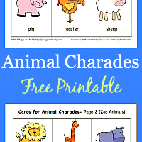 Animal Charades for Kids (Free Printable)