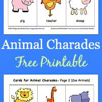 Animal Charades for Kids (Free Printable)