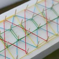 String Art for Kids Using Styrofoam and Toothpicks