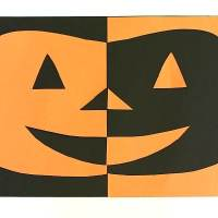 Halloween Crafts for Kids: Positive and Negative Space Jack-O-Lantern