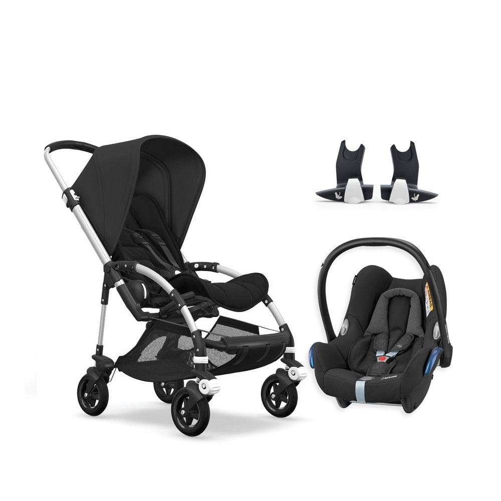 Bugaboo Bee With Buggy Board Bee 5 Pushchair Aluminium Chassis Black Free Maxi Cosi Cabriofix