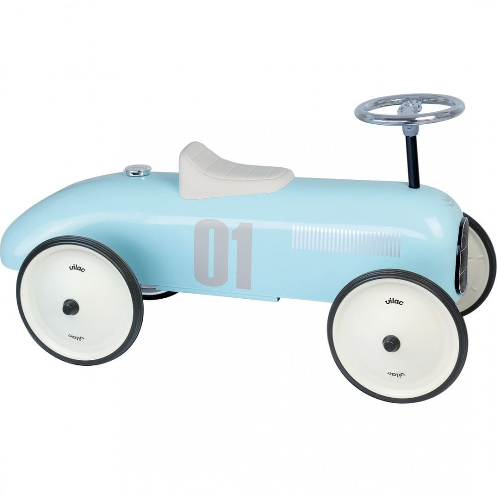 Vintage Fotos Vilac Classic Vintage Ride On Car - Light Blue | Buggybaby