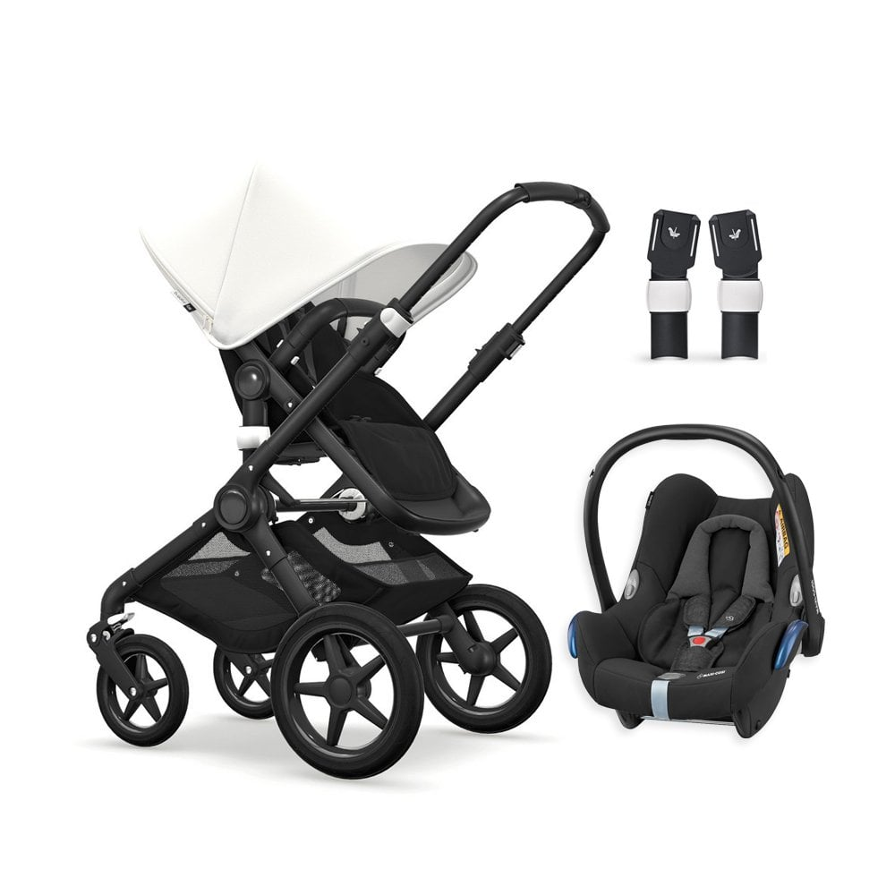 Baby Travel Systems Northern Ireland Fox Pushchair Black Chassis Black Fresh White Maxi Cosi Cabriofix Travel System