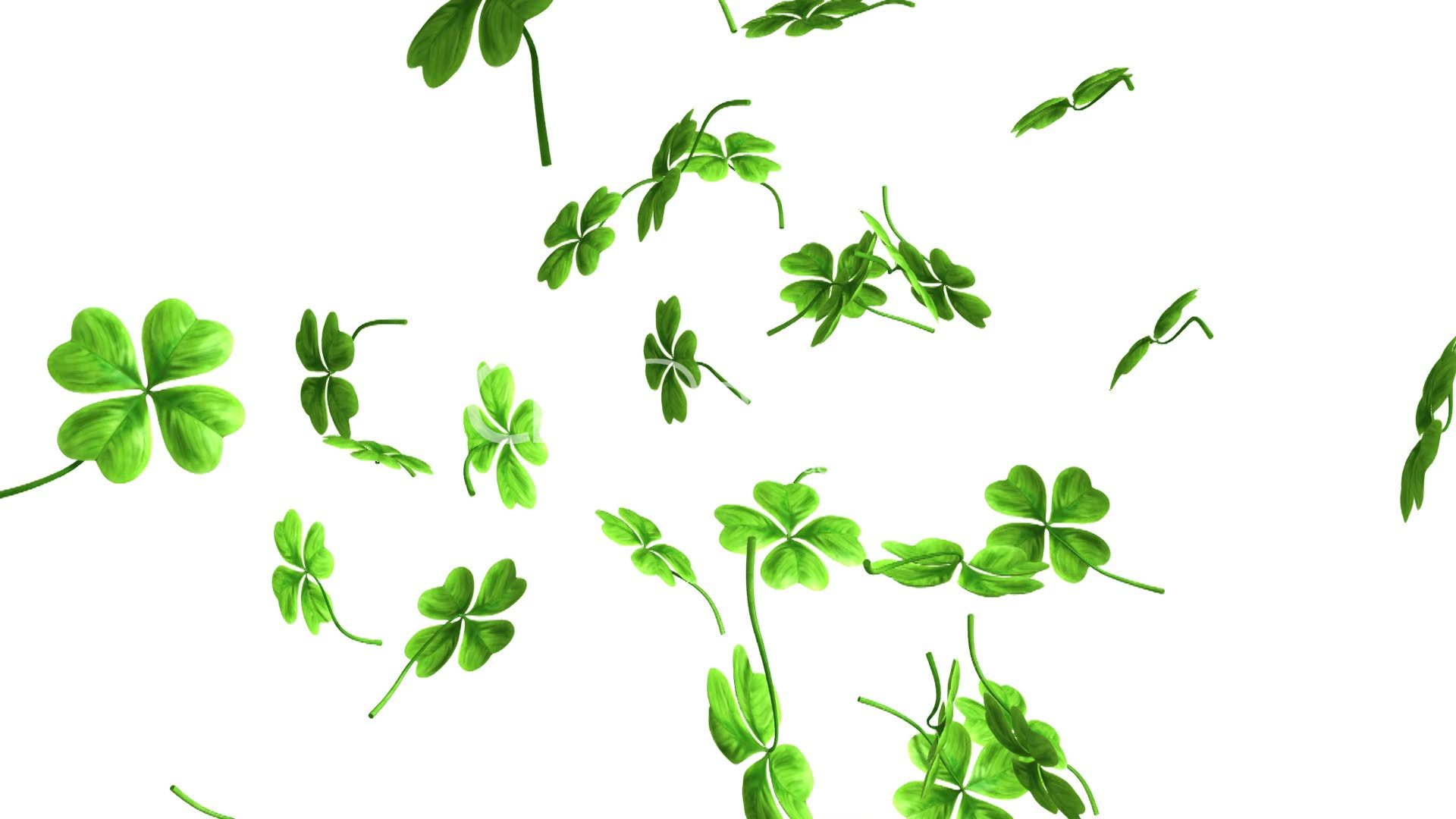 3d Shamrock Wallpaper Falling Shamrock Leaves Royalty Free Video And Stock Footage