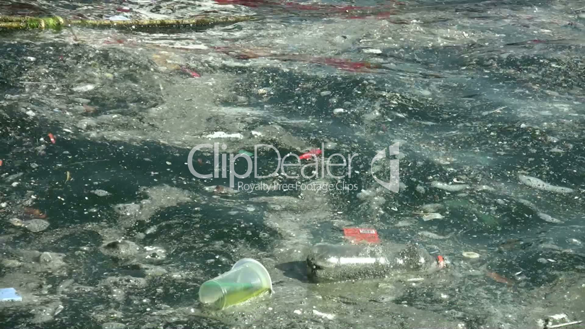 Images Stock Rubbish Water Pollution Full Hd 1080p Royalty Free Video And