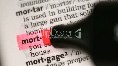 Definition of mortgage: Royalty-free video and stock footage