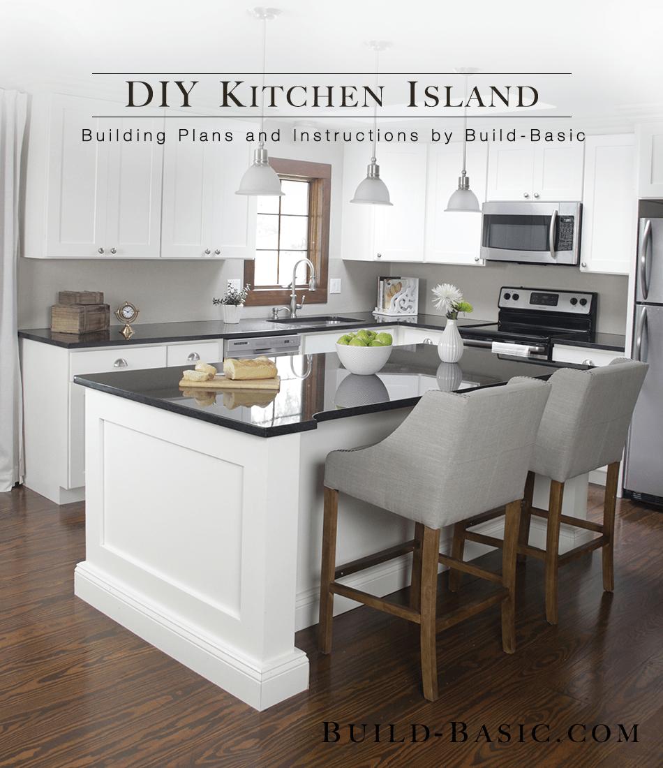build a diy kitchen island 2 basic kitchen cabinets