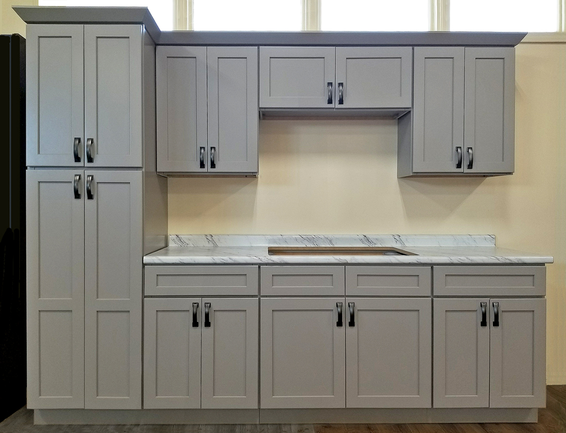 Photos Of Gray Kitchen Cabinets Stone Harbor Gray Kitchen Cabinets Builders Surplus