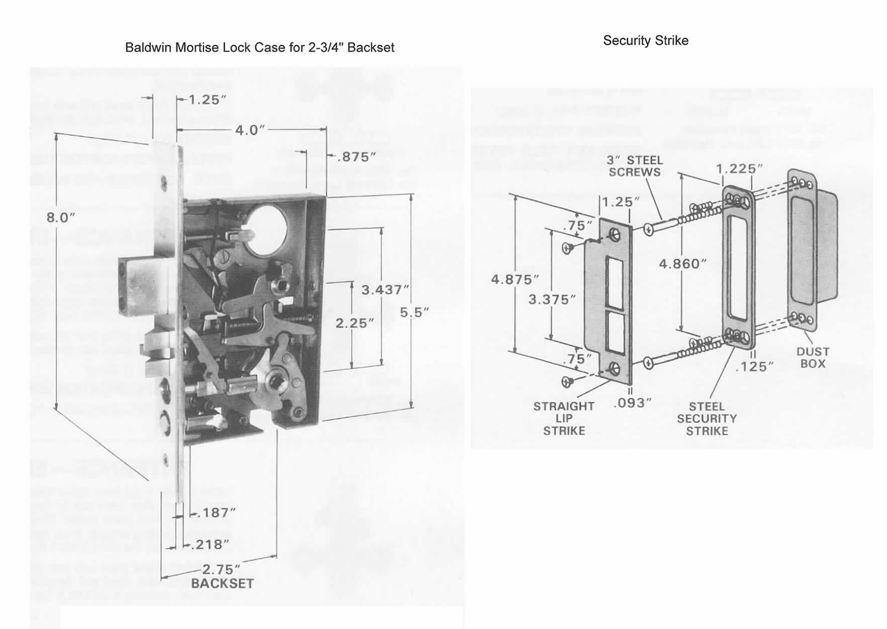 baldwin mortise lock parts diagram