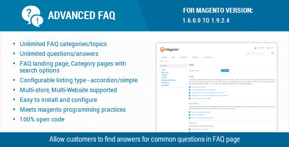 Advanced FAQ Extension For Magento by Themezaa (Magento extension)