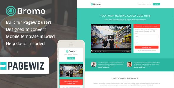 Bromo by Saputrad (landing page template for PageWiz)