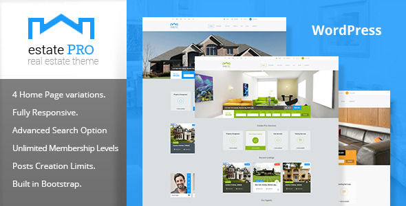 Estate Pro by PremiumLayers (real estate and realtor WordPress theme)