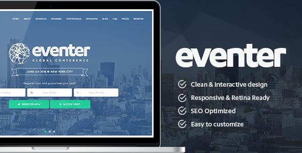 Eventer by PranonTheme (event & conference WordPress theme)