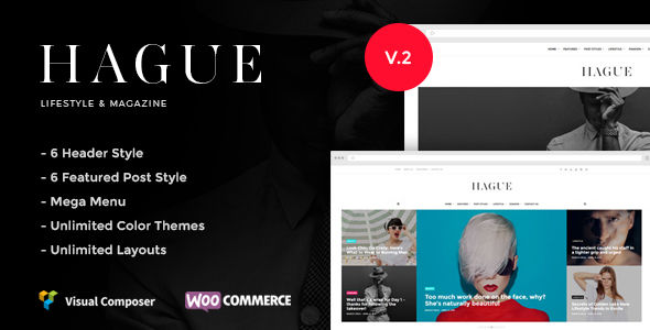 Hague by Evolle (magazine WordPress theme)