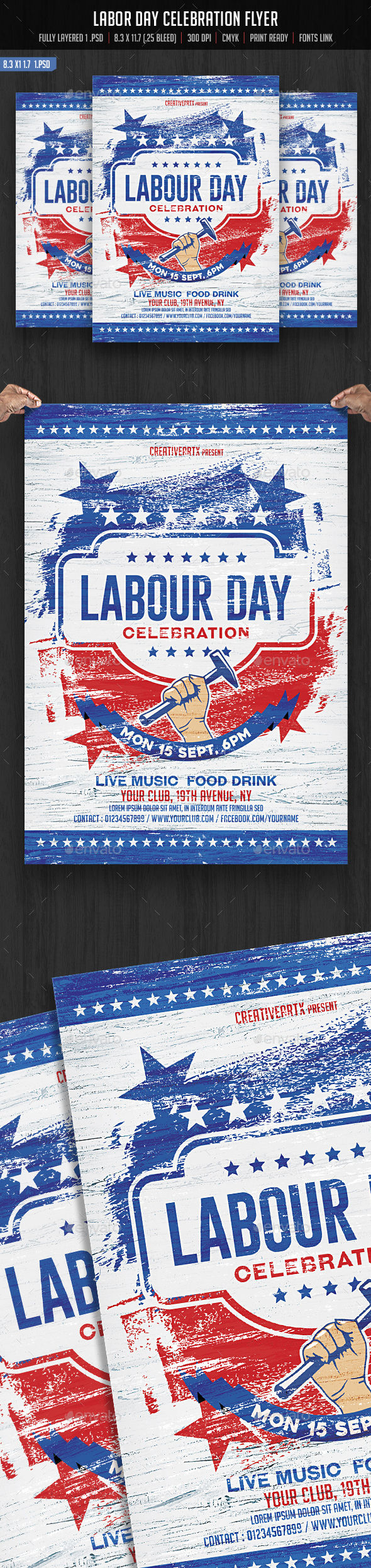 Labor Day Flyer by Creativeartx (Labor Day party flyer)