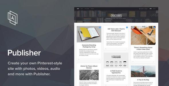 Publisher WordPress Theme by ArrayThemes (WordPress theme with infinite scrolling)