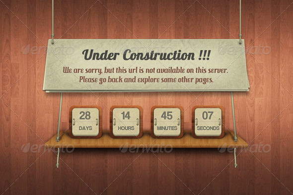 Under Construction by AddtoFavorites (layered 404 page template)